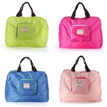 Hot vente 4 couleurs Shopping réutilisable voyage stockage sac à bandoulière solide et imperméable pliage sac à main cabas(China (Mainland))
