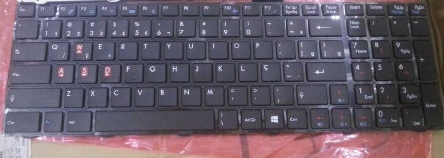 QWERTY Hot sale laptop computer keyboard for MSI V139922CK1 UK-BR Brazil layout(China (Mainland))