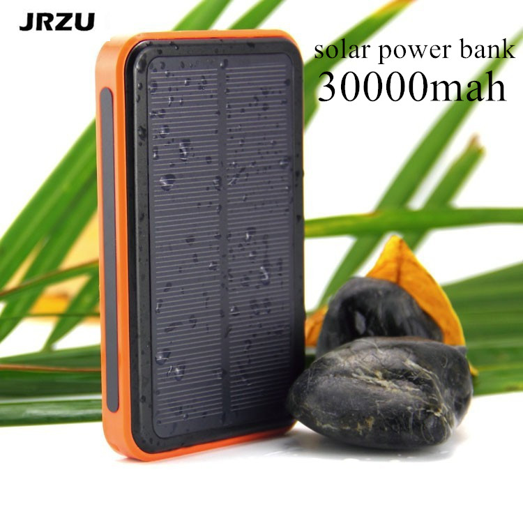 solar waterproof 30000mah solar power bank bateria externa. Black Bedroom Furniture Sets. Home Design Ideas