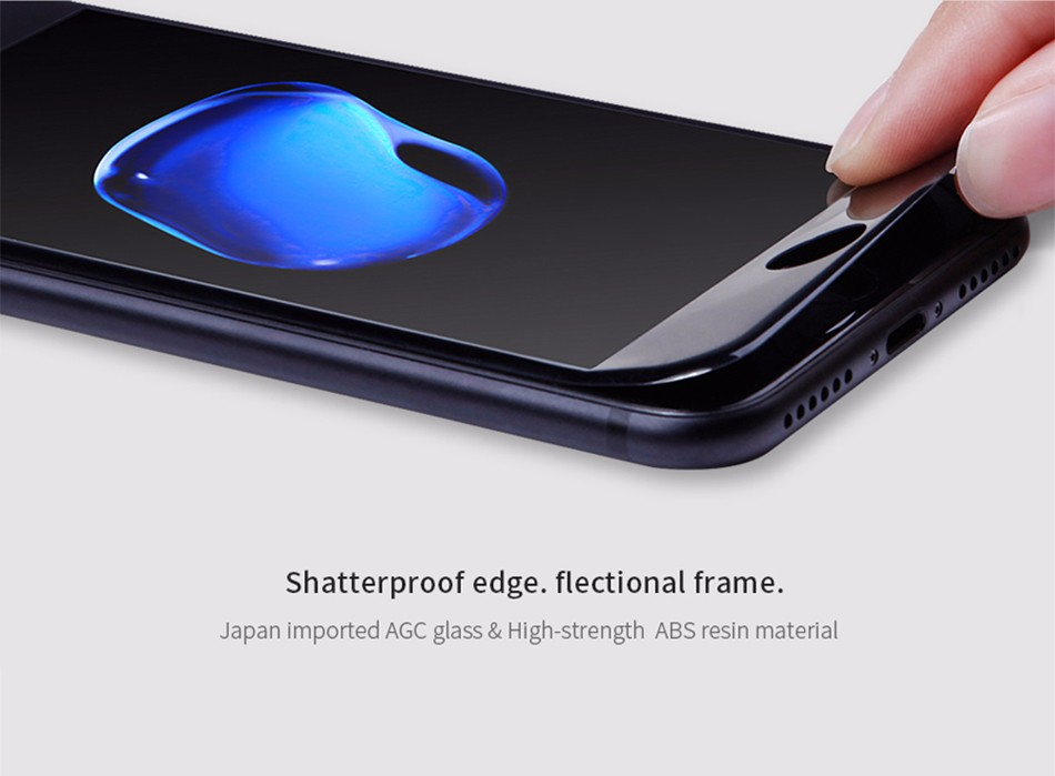"For iPhone 7 Plus 7Plus 5.5"" 3D AP+ PRO edge Shatterproof Full-screen Cover Tempered Glass Film NILLKIN Screen Protector Film"