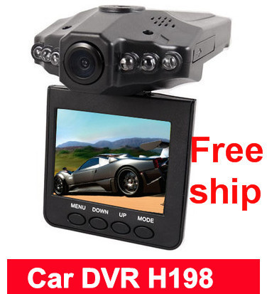 "Free shipping New 2.5"" TFT LCD Vehicle Car Camera HD DVR Dashboard Recorder"