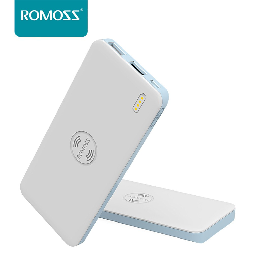 Smartphone Battery Pack Romoss Freemos 5 External Battery 5000mAh Wireless Charging Dual USB Portable Battery Power Bank(China (Mainland))