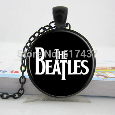 The Beatles Necklace,,Glass Picture Pendant, Music Pendant Band Jewelry,Glass Cabochon Necklace(China (Mainland))