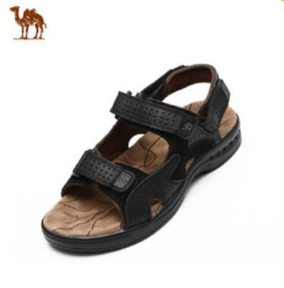 2015 Camel mens sandals slippers genuine leather cowhide outdoor casual men - Fashion boutique shops. store