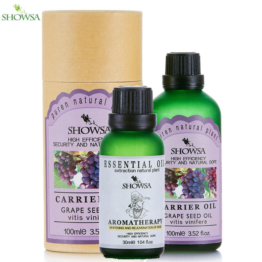 whitening &amp; rejuvenation of rose essential oil + grape seed oil skin bleaching and removing melanin skin care body massage oil<br><br>Aliexpress