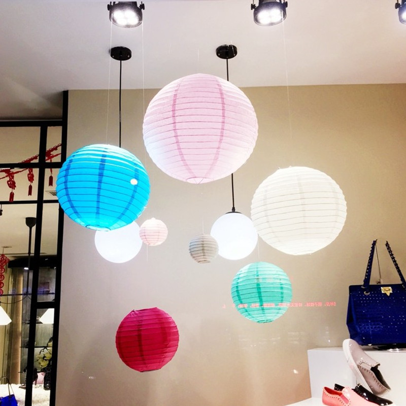1pc 8inch 20cm Round Paper Lantern house wedding party enents supplies fitting room multicolor Chinese lantern(China (Mainland))