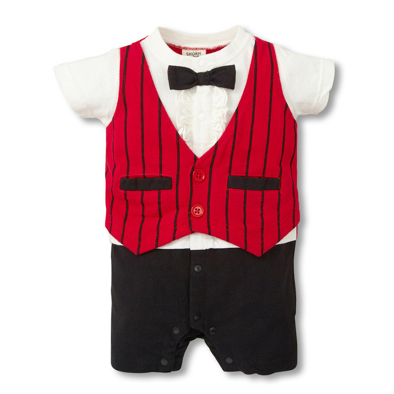 Summer Style Baby Boy Girl Clothes Infantil Newborn Short Sleeveless Handsome Suit Coveralls Next Bebes Jumpsuits Rompers(China (Mainland))