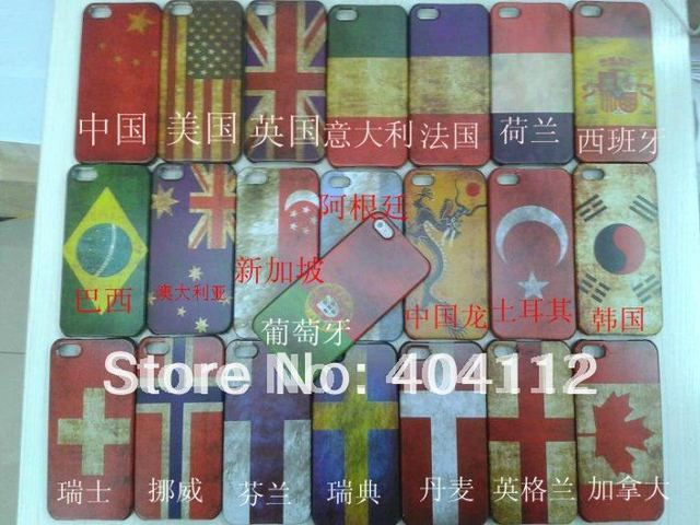 Free shipping!!Cheapest Price Hard Plastic Matte Retro National Country Flag Case For Iphone5