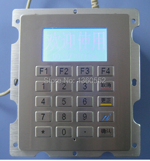 Metal Keypad With LCM Display, Stainless steel digit keyboard with LCM Cutout for outdoor gas station,CNG dispenser, LNG machine(China (Mainland))
