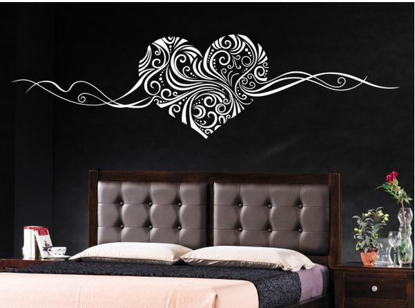 SIZE:150 x 40cm Romantic Heart removable wall stickers home decor wall art LOVE wedding decoration centerpieces family decals(China (Mainland))
