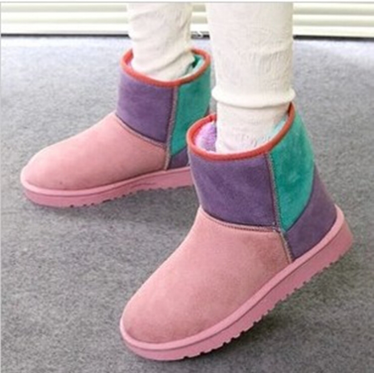2014 HOT Fashion Mixed Color Autumn Winter women snow ankle high heels boots shoes woman women's girl platform boot  -  iGem store