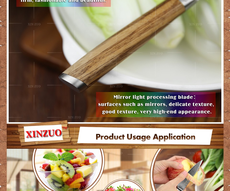 """Buy XINZUO 3.5"""" inch fruit knife Damascus steel kitchen knives High Quality  paring knife senior kitchen tools FREE SHIPPING cheap"""