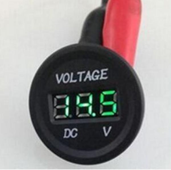 Professional LED Digital Display 12 V-24 V DC Auto Car Motorcycle Voltmeter Metro Waterproof Voltmeter Socket