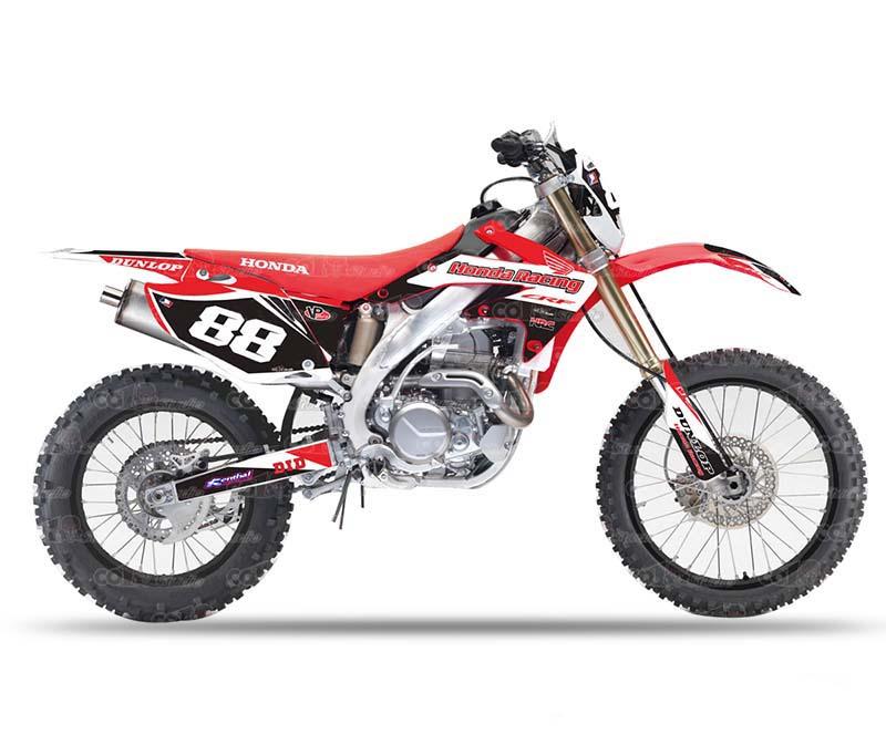 motocicleta motocross 3M PVC stickers decals pegatinas graphics sticker kits for Honda CRF250X 450X DIRT BIKE sticker no.88(China (Mainland))