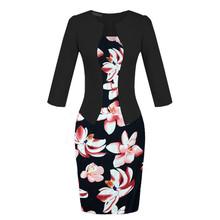 Spring Summer Dress Office Formal Black Red Dot Print Plus Size Vestidos De Festa Women Clothing Work Wear Pencil Bodycon Dress(China)