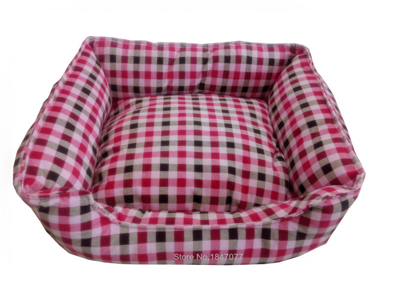 Good Pet Brand Pet Products Pet Dog Bed for Cats Dogs Grid Print Design Small Animals Pet Beds High Quality Cloth(China (Mainland))