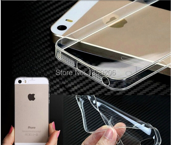 Hot Selling new Ultra Thin 0.3mm Light Crystal Clear Soft Silicone Transparent TPU Case cover iPhone5 5S 5G Many Colors - Anglelovebeauty store