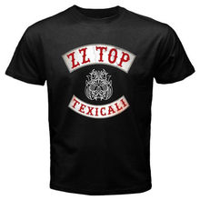 Buy New ZZ TOP TEXICALI band logo Mens Black T-Shirt Size S-2XL Mens Short Sleeve Tees for $13.29 in AliExpress store