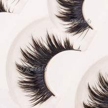 5 Pairs Soft Women Lady Makeup Thick False Eyelashes Eye Lashes Long Black Nautral Handmade Makeup Beauty Tools(China (Mainland))