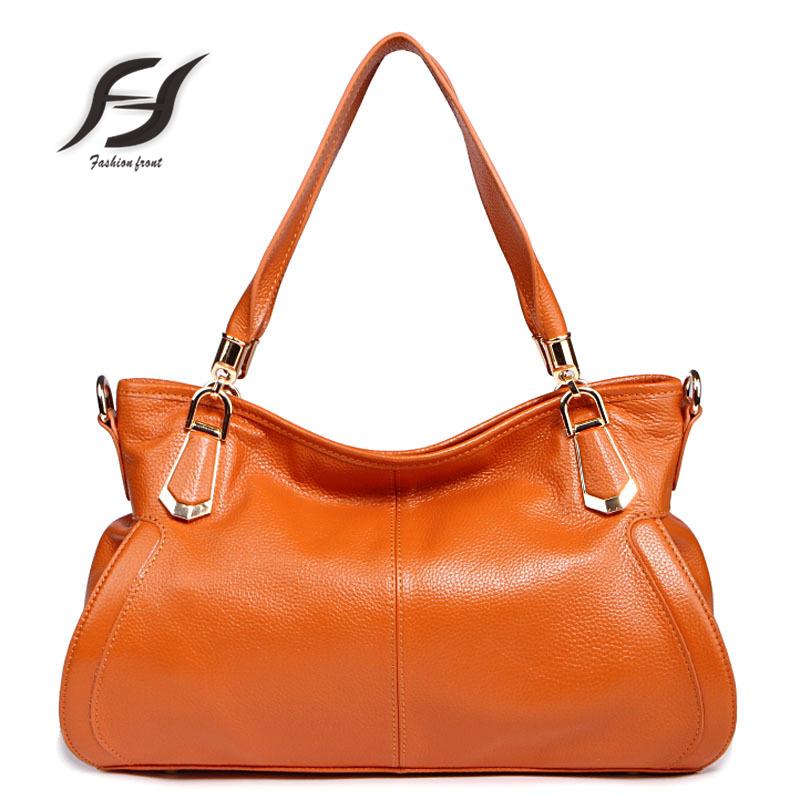 New fashion women handbags genuine leather cowhide bucket bag ladies casual handbag shoulder bag Messenger bags high quality<br>