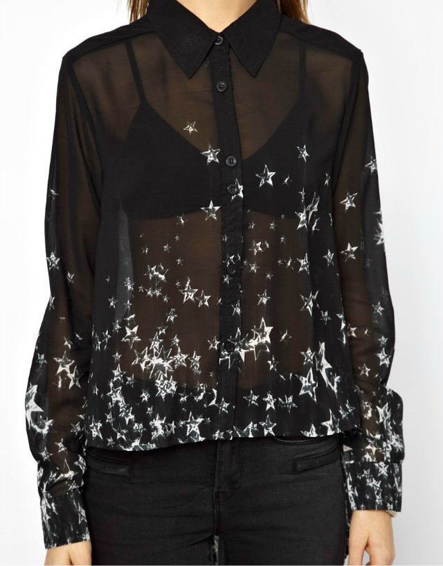 Черная Прозрачная Блузка Где Купить