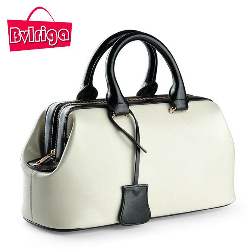 BVLRIGA 2017 Female Genuine leather Bag Summer Women Handbags Black Big Lady Tote Hand Bag Wedding Large Luxury Designer red(China (Mainland))