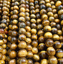 """Buy New fashion 4mm/6mm/8mm/10mm/12mm Tiger Eye Round Natural Stone Loose Beads Jewelry Making Diy Bracelet Strand 15"""" for $1.43 in AliExpress store"""
