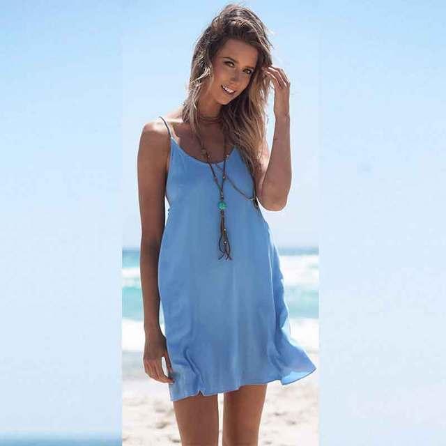 summer dress chiffon sleeveless knee length natural lange. Black Bedroom Furniture Sets. Home Design Ideas
