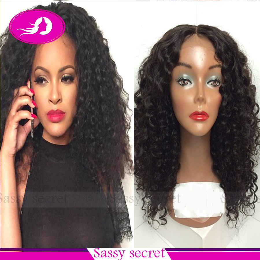Cheap Lace Front Wigs Natural Black Kanekalon Heat Resistant Fiber Glueless Synthetic Lace Front Wig Curly Lace Front Wigs