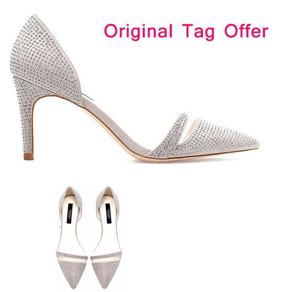 Brand Shoe Women.Gorgeous High Heels.PU Stileto Neon Nude Pumps.Prom Shoes Rhinestone.Pigalle Heel.Lita.Dress - Rosa Fashion CO.,Ltd store