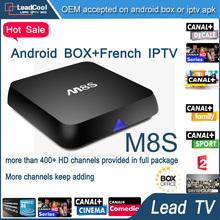 M8S Smart Iptv Box Android4.4 2G/8G Wifi Bluetooth With Iptv Account Free Three Months Arabic Iptv Apk Sport Canal Tunisia