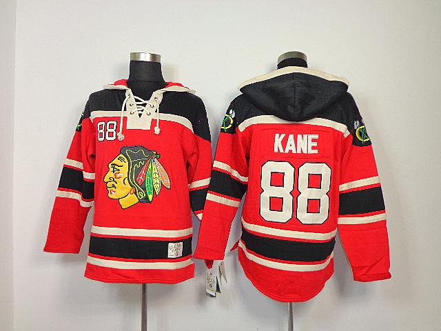 Cheap 2015 New Old Time Hockey Chicago Blackhawks #88 Patrick Kane Sawyer Hooded Sweatshirt,Lace Jerseys Fleece Hoodie