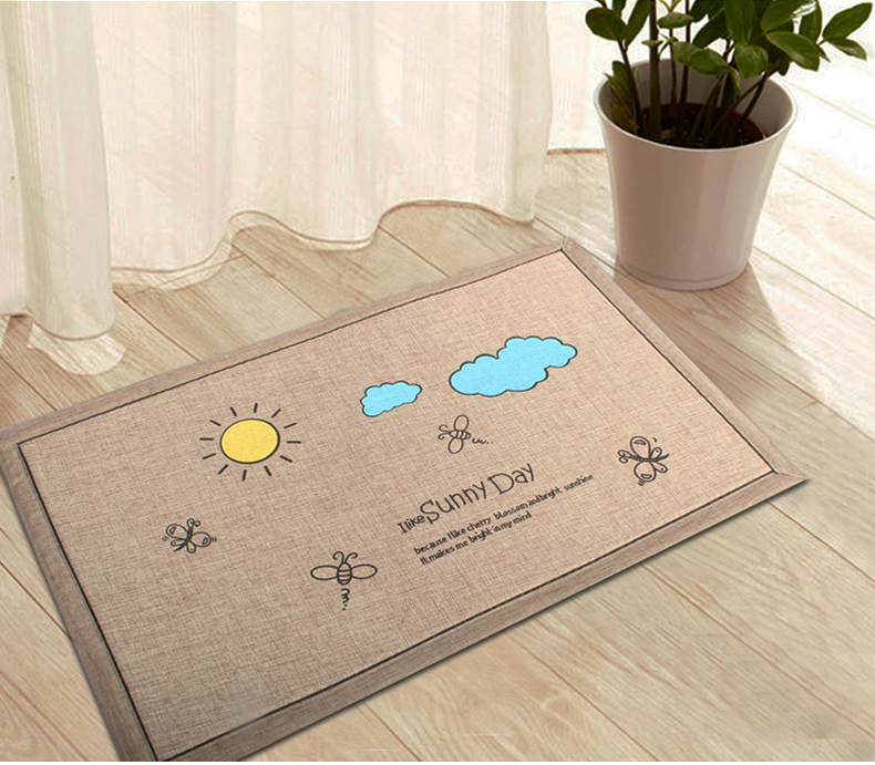 Superabsorbent anti slip cartoon door mat modern creative Decorative kitchen floor mat