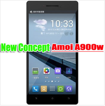 In Stock Amoi A900W amoi phones 5.5inches 1280x720 IPS Dual sim 1Gram+8Grom Android 4.2 MTK6582 8.0Mp   Multi-language