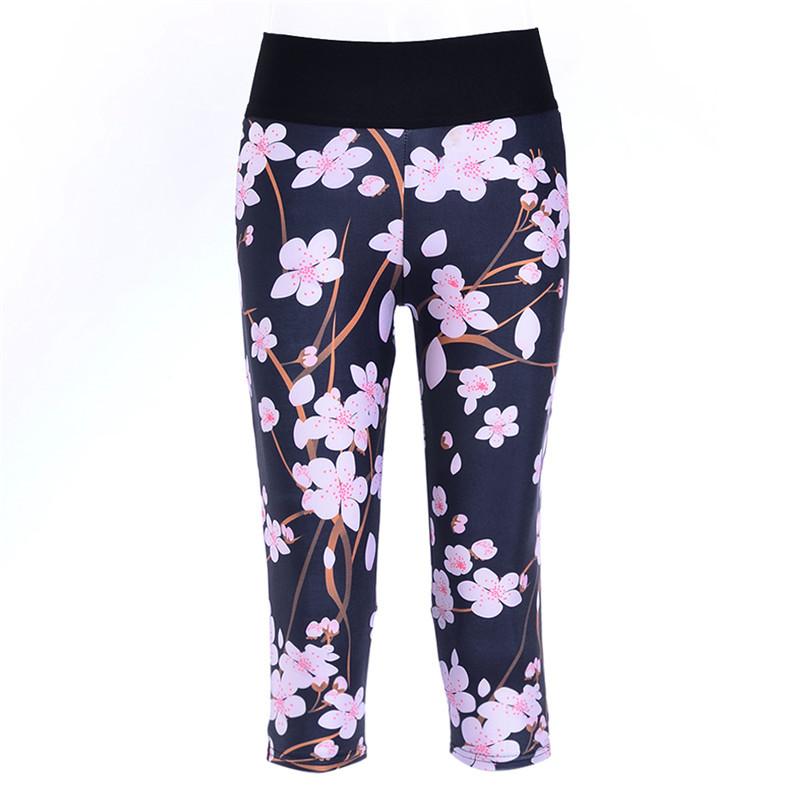 2016 Capri Pants Yoga Fitness Sweat Cropped Women Slim Black Peach Bodybuilding Trousers Elastic Bottom Leggings Workout LN7Slgs(China (Mainland))
