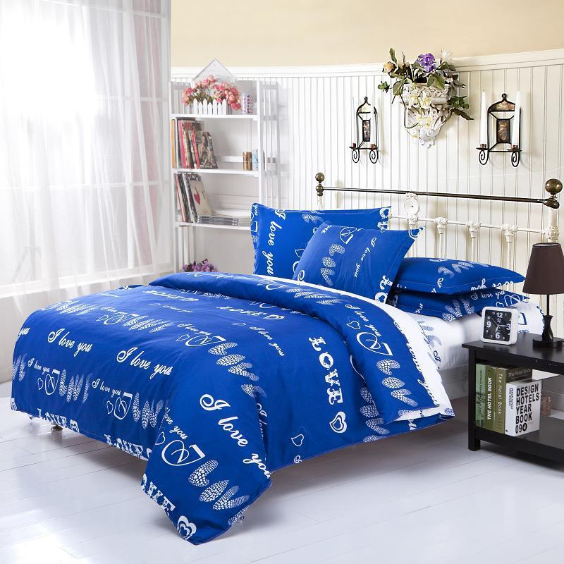 Three sets home textile student dormitory Four bedding cover/ bed sheet/ pillowcase - Wonston Store store