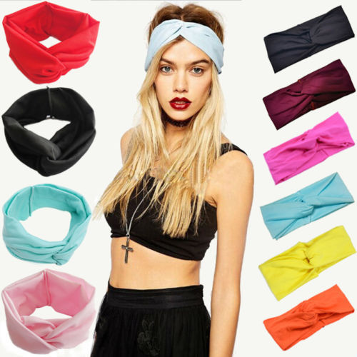 Hot Women Cotton Turban Twist Knot Head Wrap Headband Twisted Knotted Hair Band Hair Ties Decorated Fashion Hair Accessories(China (Mainland))
