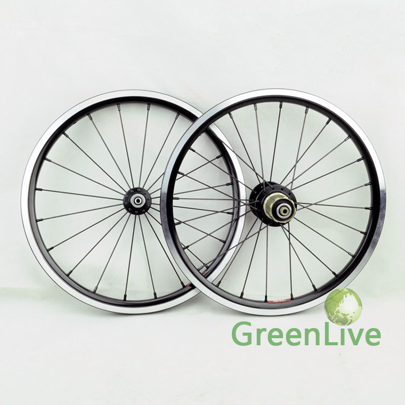 Super light 16inch folding bike front and rear wheelset(China (Mainland))