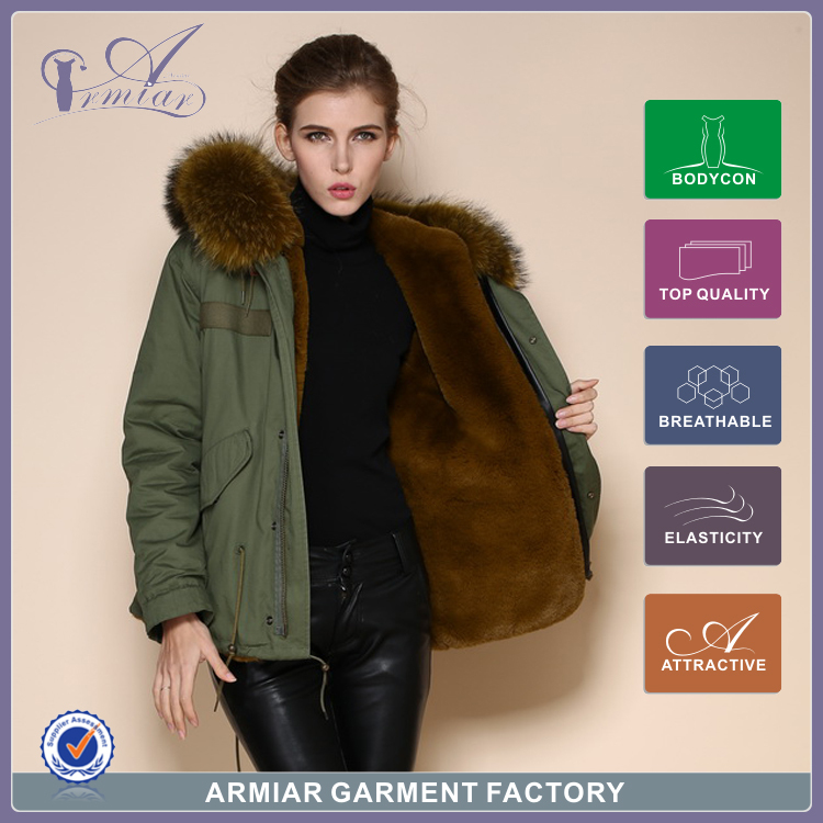 Italian fur coats women Raccoon collar jacket new fashion arrival style animal mr mrs coat M001-9 - Guangzhou Armiar Fur Parkas Store -- Meifng Brand store