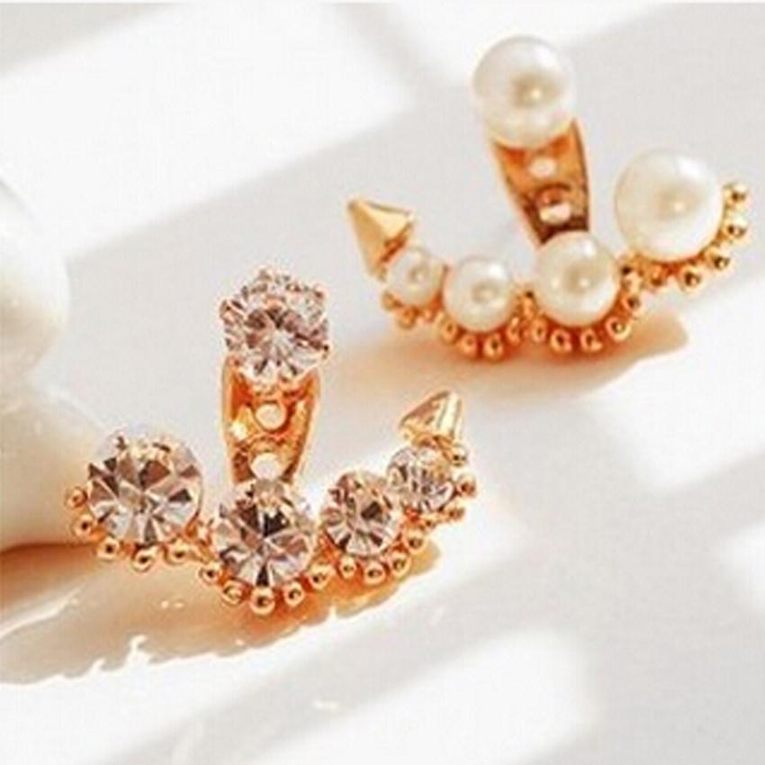Brand Designer Rhinestone Pearl Earrings Jewelry Fashion Lady Wedding Party Women Accessories brincos E983 - XY Company (Min order $8 store)