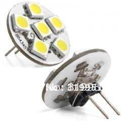 Hot sales 6xSMD5050 G4 Back Pin LED light+AC/DC10-30V+1.0W+Replace 5W Incandescent bulb, soft light/warm white, Boat/Home Using