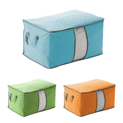 Trustwothy 3Colors storage box Portable Organizer Non Woven Clothing Pouch Holder Blanket Pillow Underbed Storage Bag Box Cami(China (Mainland))