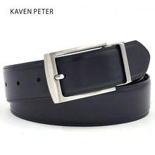 Buy 2016 Designer Belts Men High Genuine Leather Luxury Strap Male Belts Reversible Buckle Belt Dark Blue Black Color for $8.87 in AliExpress store