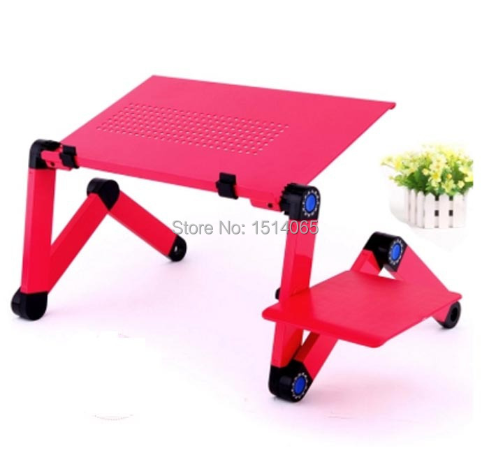 Hot sale Laptop Table Sofa Desk Stand Folding Multi Angle Legs 360 rolling Adjustable Folding notebook table(China (Mainland))