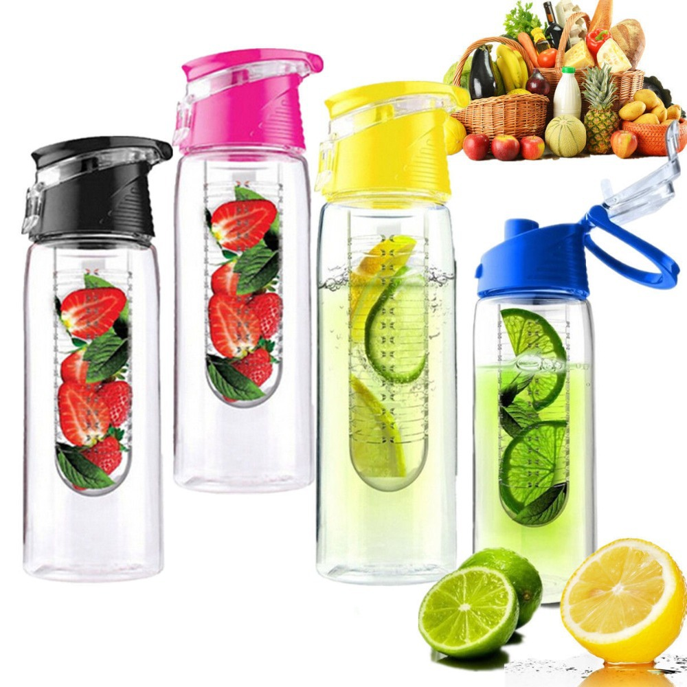 2015 New Arriva 700ml Travel Fashion Portable Leak-proof Camping Fruit Infusing Infuser Juice Flip LidWater Bottle - Favor gifts store