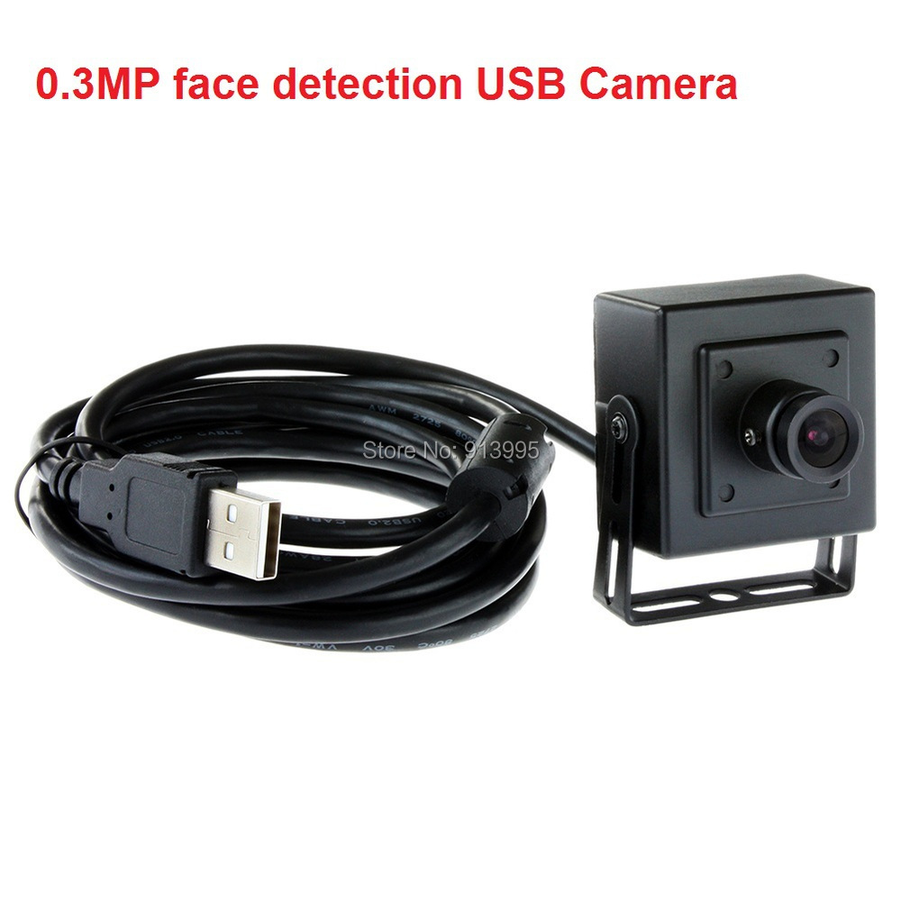 0.3MP 640X480 mini USB Camera with Housing for computer & Professional Software with 5M Cable, with face detection(China (Mainland))
