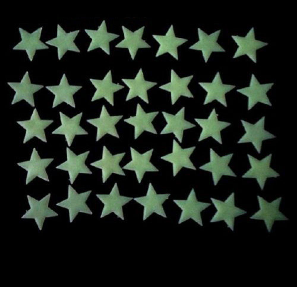 105pcs Wall Stickers Home Decor Color Glow In The Dark Stars Luminous Fluorescent Wall Stickers Decal(China (Mainland))