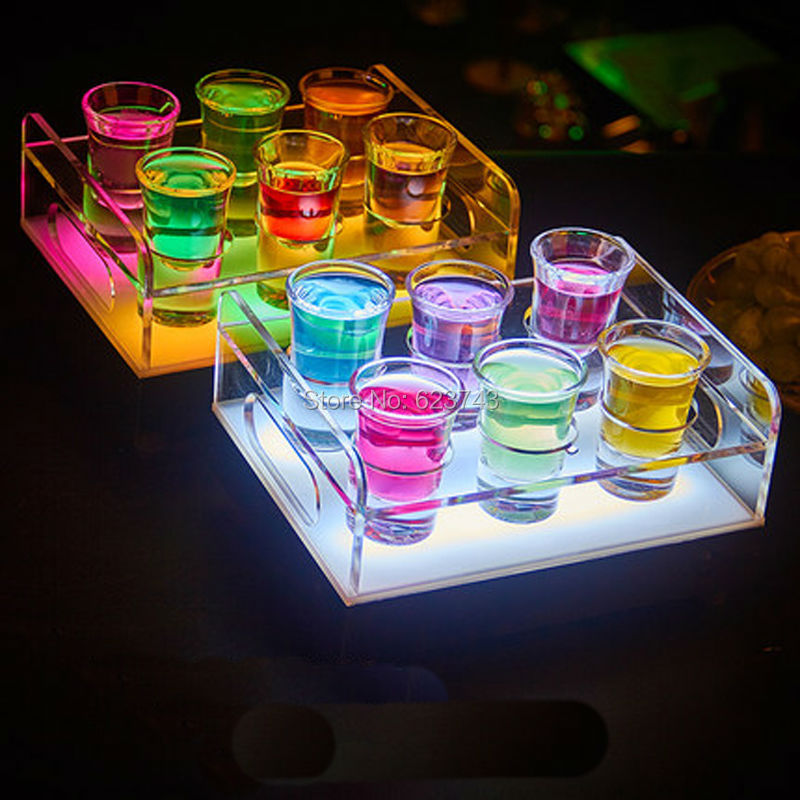 rechargeable multicolor Plastic led shot glass holder--Slong Light (3)