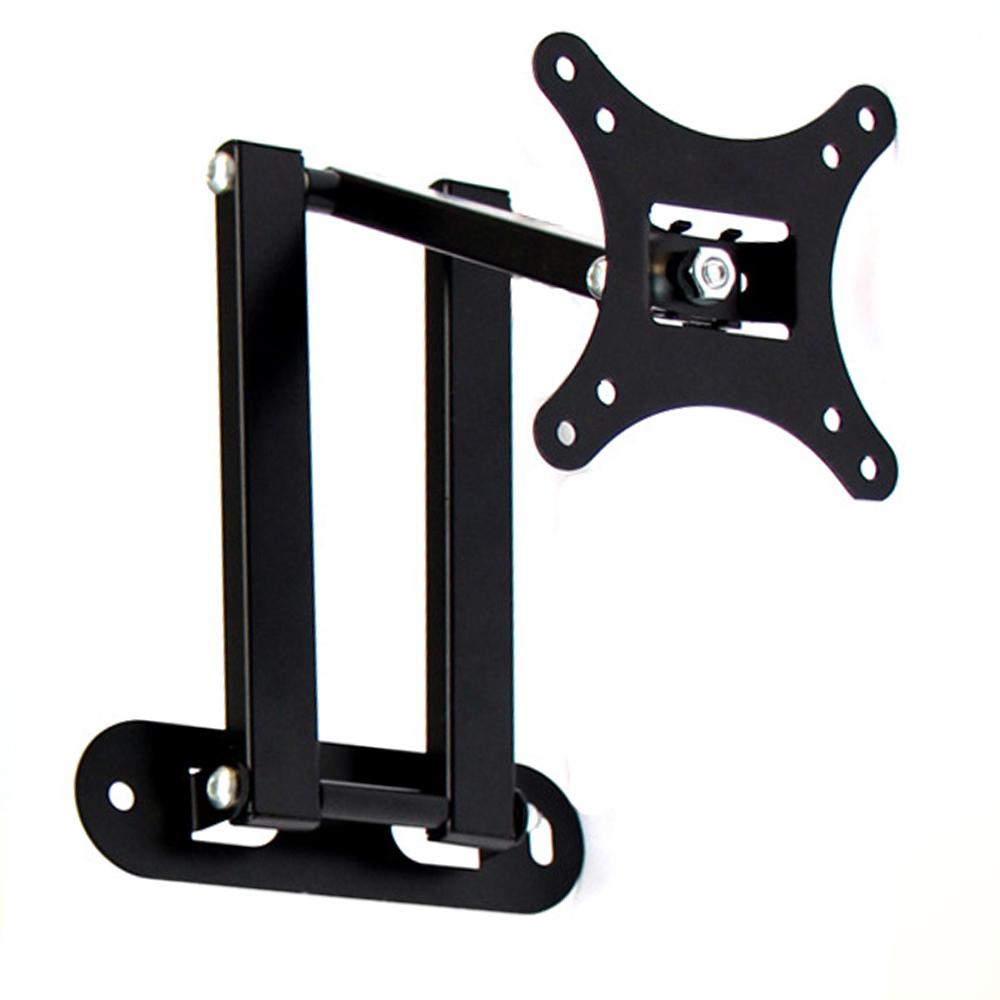 universal 10-26 LCD LED TV PC Monitor Wall Mount Bracket Corner Tilt Swivel Holder VESA 75 100 Tilt Swivel adjustable