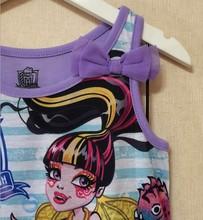 Monster Ella Princess Dress Kids Dresses Clothing for Girls Ever After High Monster Dress Cartoon Girl